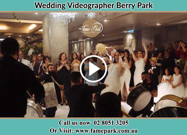 The new couple dancing on the dance floor with the band Berry Park NSW 2321