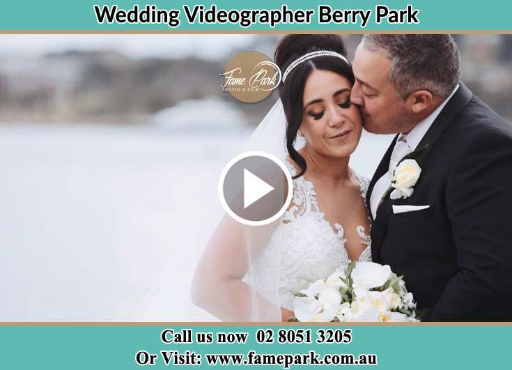 The Groom kissing the Bride Berry Park NSW 2321
