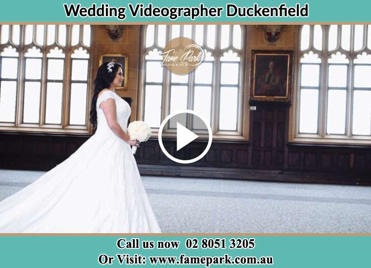 The Bride walking down the hallway Duckenfield NSW 2321