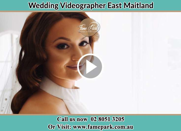 The Bride smiles for the camera East Maitland NSW 2323
