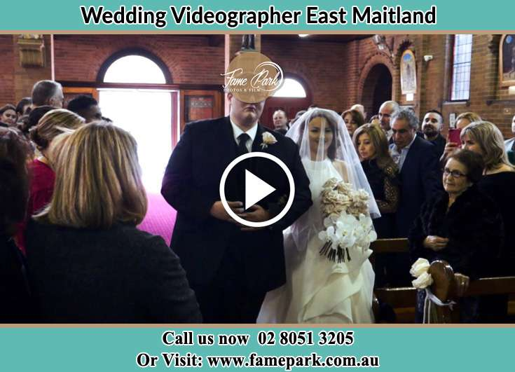 The Bride walking down the aisle with her father East Maitland NSW 2323