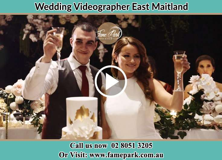 The newlyweds offers a toast to everyone East Maitland NSW 2323