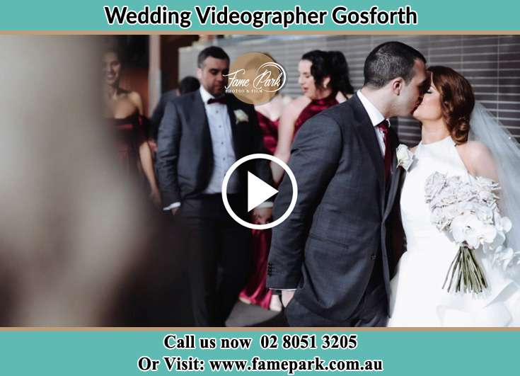 The newlyweds kissing Gosforth NSW 2320