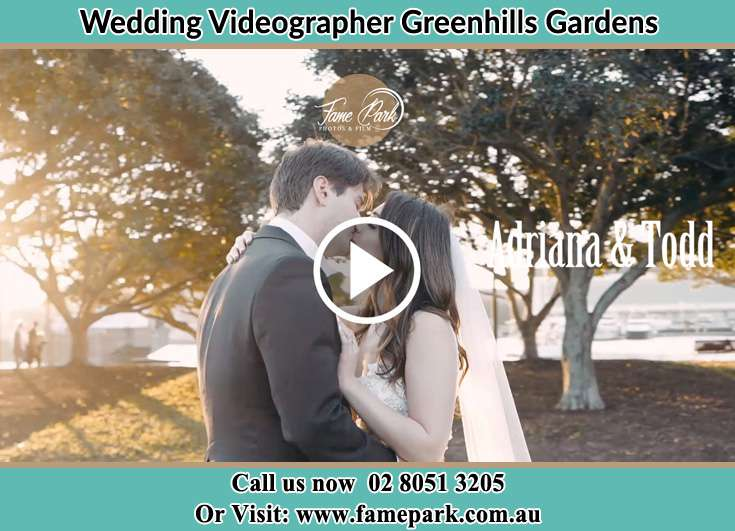 The new couple kissing in the park Greenhills Gardens NSW 2323