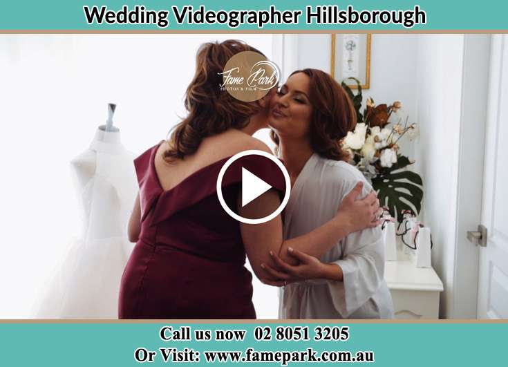 The Bride and her mother greets each other Hillsborough NSW 2290