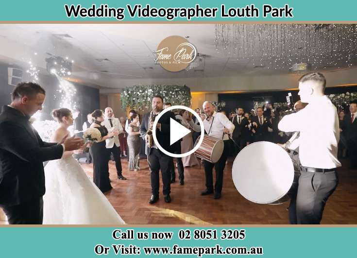 The Band serenading the new couple on the dance floor Louth Park NSW 2320