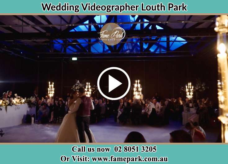 The newlyweds dancing on the dance floor Louth Park NSW 2320