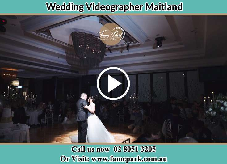 The newlyweds dancing on the dance floor Maitland NSW 2320
