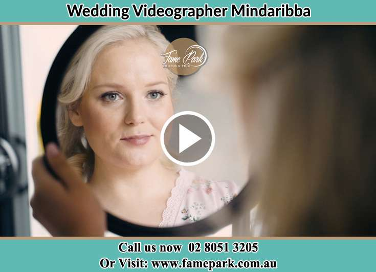 The Bride looking at the mirror Mindaribba NSW 2320