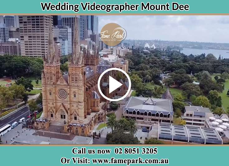 Aerial view of the wedding venue Mount Dee NSW 2320