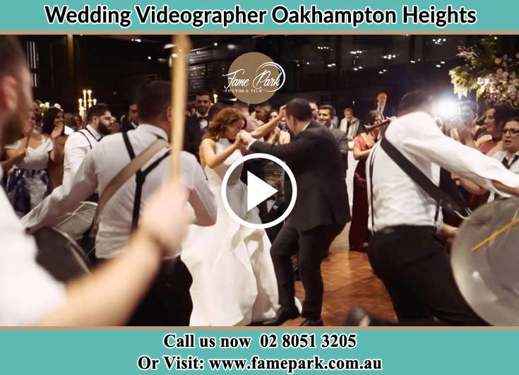 The new couple dancing on the dance floor with the band Oakhampton Heights NSW 2320