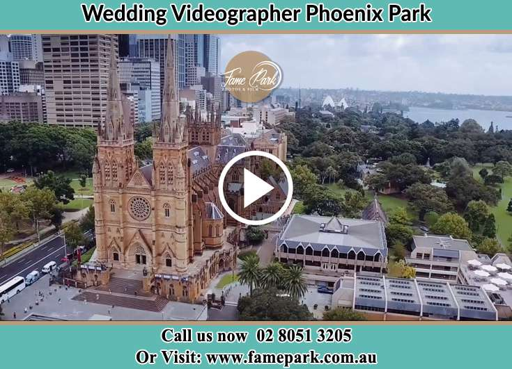 Aerial view of the wedding venue Phoenix Park NSW 2321