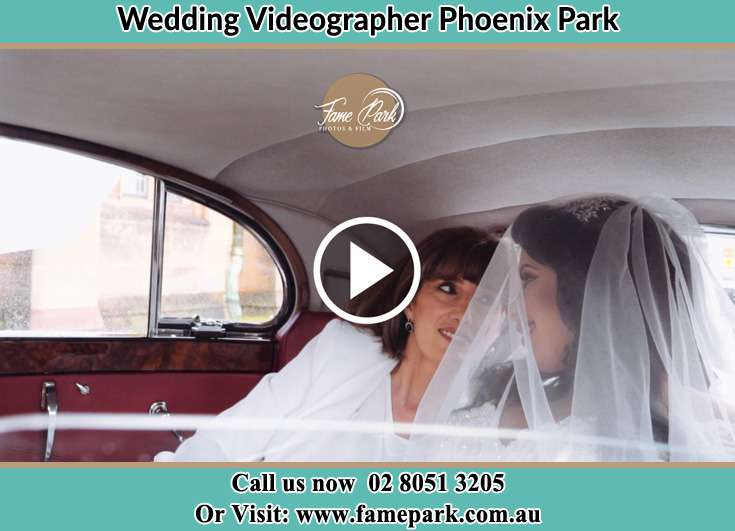 The Bride smiling inside the camera Phoenix Park NSW 2321
