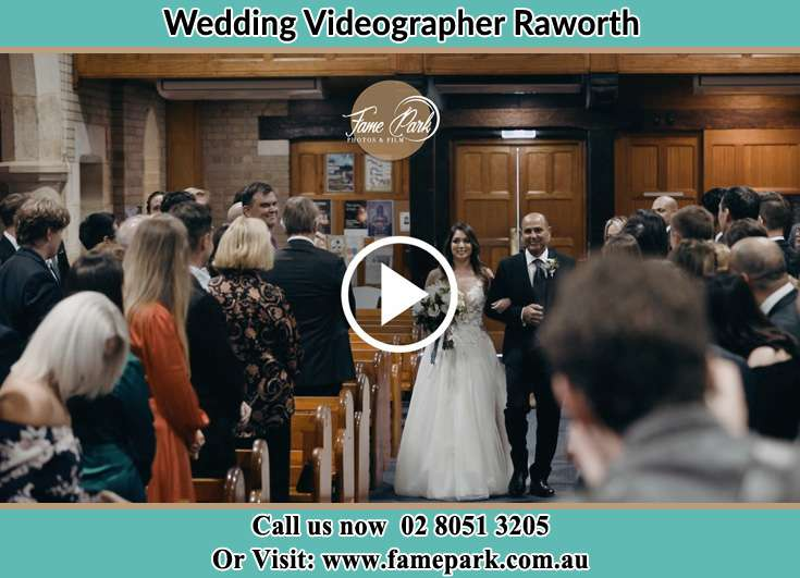 The Bride walking down the aisle with her father Raworth NSW 2321